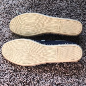 Sperry Shoes - Sperry Topsider woven cloth - navy - never worn